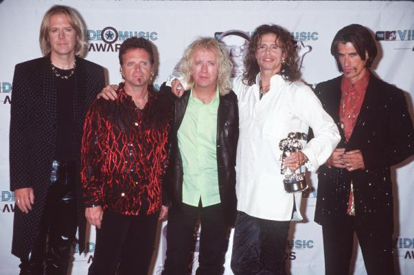 Aerosmith, Joe Perry, and Steven Tyler