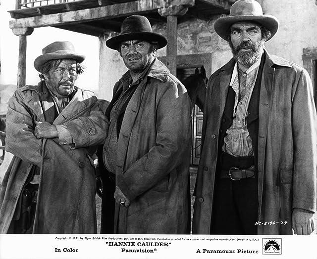 Ernest Borgnine, Jack Elam, and Strother Martin in Hannie Caulder (1971)