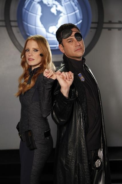 Jimmy Kimmel and Jessica Chastain in Jimmy Kimmel Live! (2003)