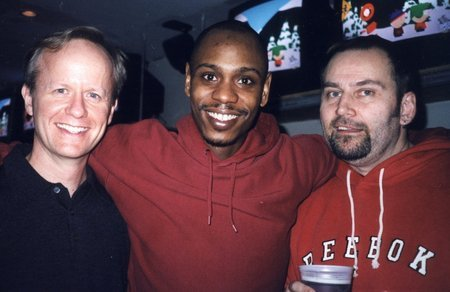 Patrick Frederic, Dave Chappelle & Brian Dykstra at the Opening Night party of Chappelle Show season one.