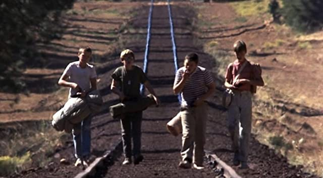 River Phoenix, Corey Feldman, Wil Wheaton, and Jerry O'Connell in Stand by Me (1986)