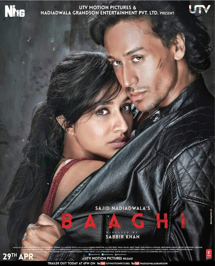 Poster Baaghi (2016) Full Hindi Movie Download Free 300MB