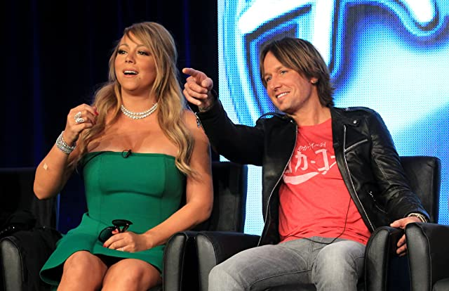 Mariah Carey and Keith Urban at an event for American Idol (2002)