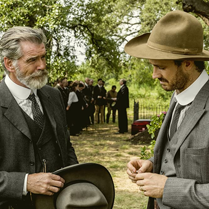Pierce Brosnan and Henry Garrett in The Son (2017)