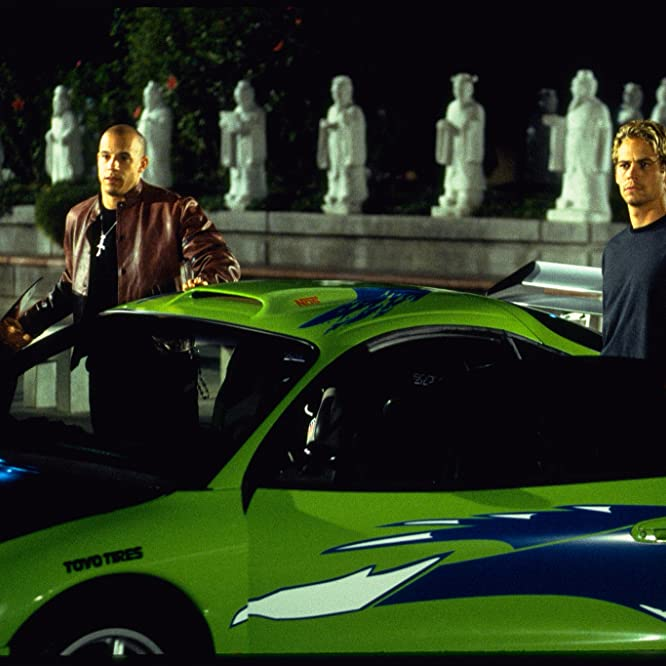 Vin Diesel and Paul Walker in The Fast and the Furious (2001)