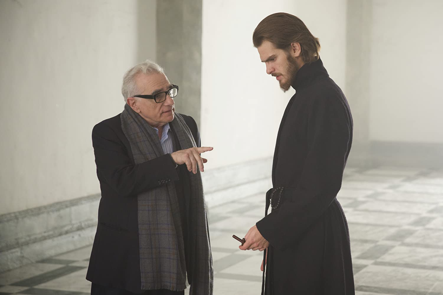 Martin Scorsese and Andrew Garfield on the set of 'Silence' (Courtesy: Paramount Pictures)