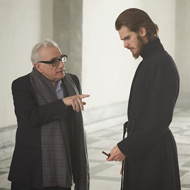 Martin Scorsese and Andrew Garfield in Silence (2016)