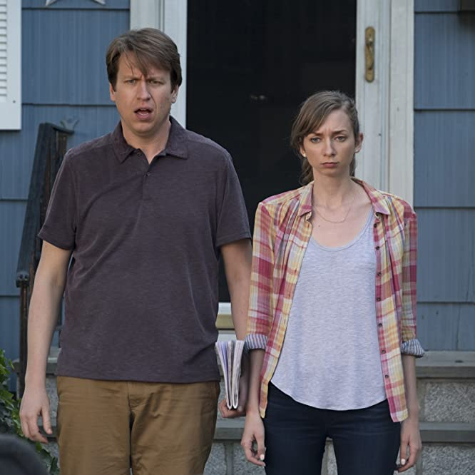 Lauren Lapkus and Pete Holmes in Crashing (2017)