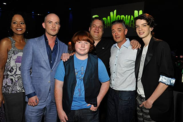 Sam Fell, Jeff Garlin, Kodi Smit-McPhee, Chris Butler, and Tucker Albrizzi at ParaNorman (2012)