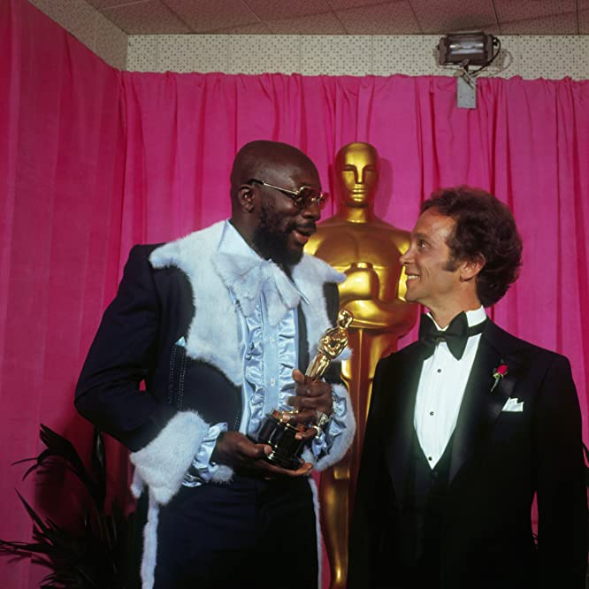 Joel Grey and Isaac Hayes at an event for The 44th Annual Academy Awards (1972)