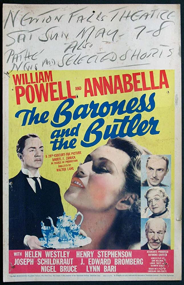 The Baroness and the Butler The Baroness and the Butler 1938