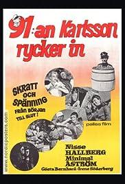 91 Karlsson rycker in Poster