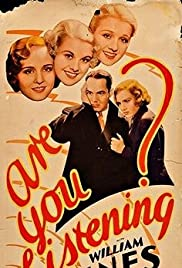 Are You Listening? (1932) Poster - Movie Forum, Cast, Reviews