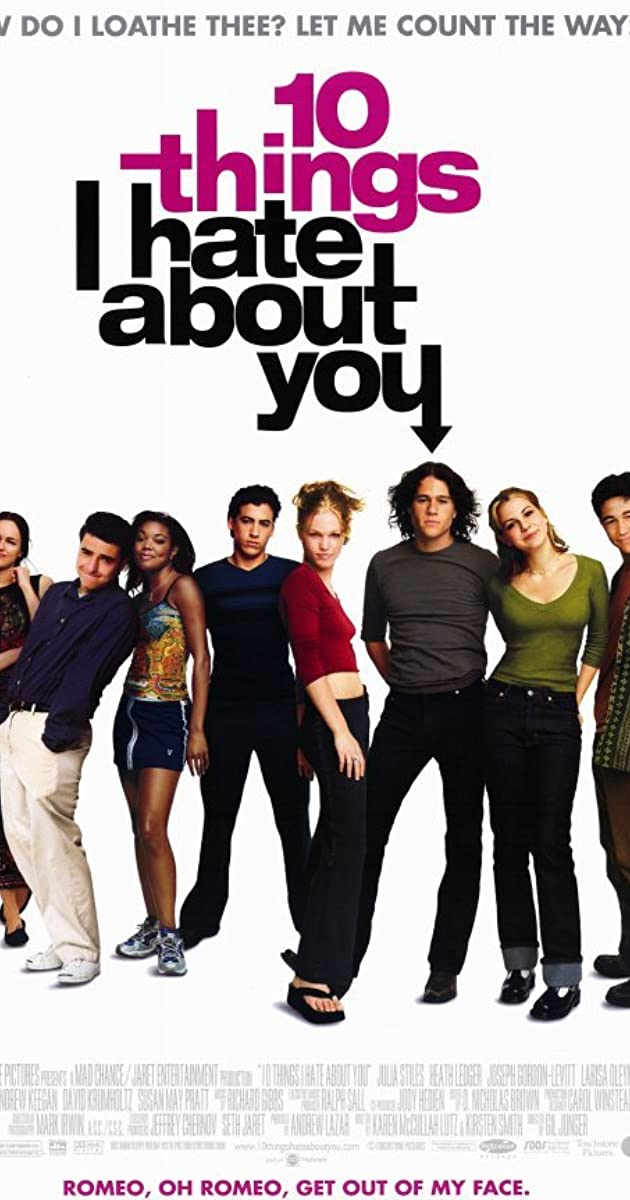 things i hate and things i love 10 things i hate about you was the teen movie that made an entire generation  fall in love with heath ledger — including one of his co-stars.