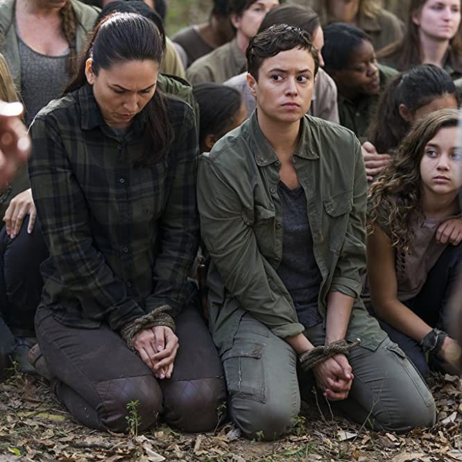 Nicole Barré, Briana Venskus, and Mimi Kirkland in The Walking Dead (2010)