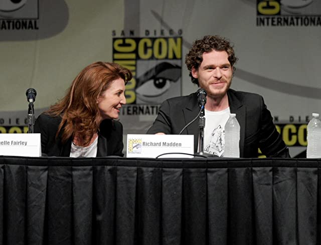 Michelle Fairley and Richard Madden at an event for Game of Thrones (2011)