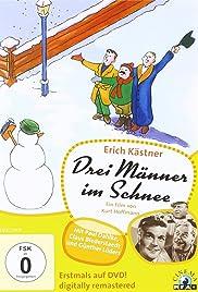 Drei Männer im Schnee Poster