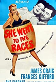 She Went to the Races Poster