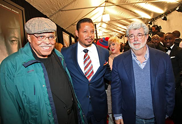 George Lucas, James Earl Jones, Terrence Howard, and Katie Lucas at Red Tails (2012)