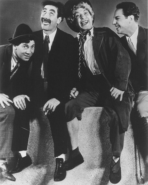 Groucho Marx, Chico Marx, Harpo Marx, and Zeppo Marx in Animal Crackers (1930)