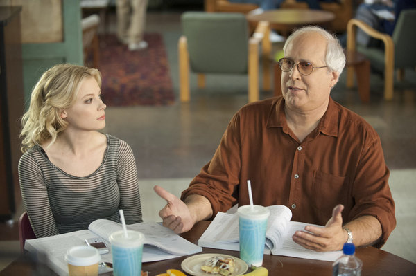 Chevy Chase and Gillian Jacobs in Community (2009)