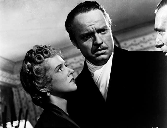 Orson Welles, Ray Collins, and Dorothy Comingore in Citizen Kane (1941)