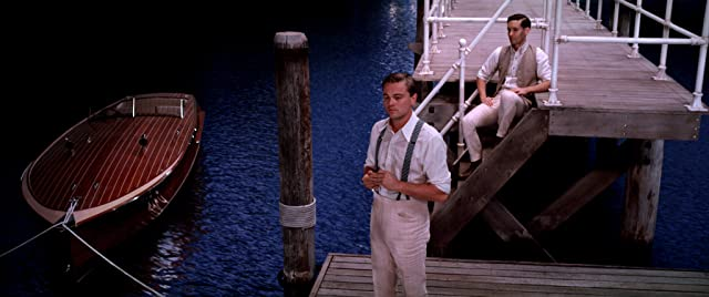 Leonardo DiCaprio and Tobey Maguire in The Great Gatsby (2013)