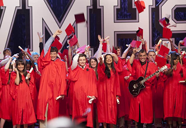 Lea Michele, Naya Rivera, Mark Salling, Cory Monteith, Chris Colfer, and Amber Riley in Glee (2009)