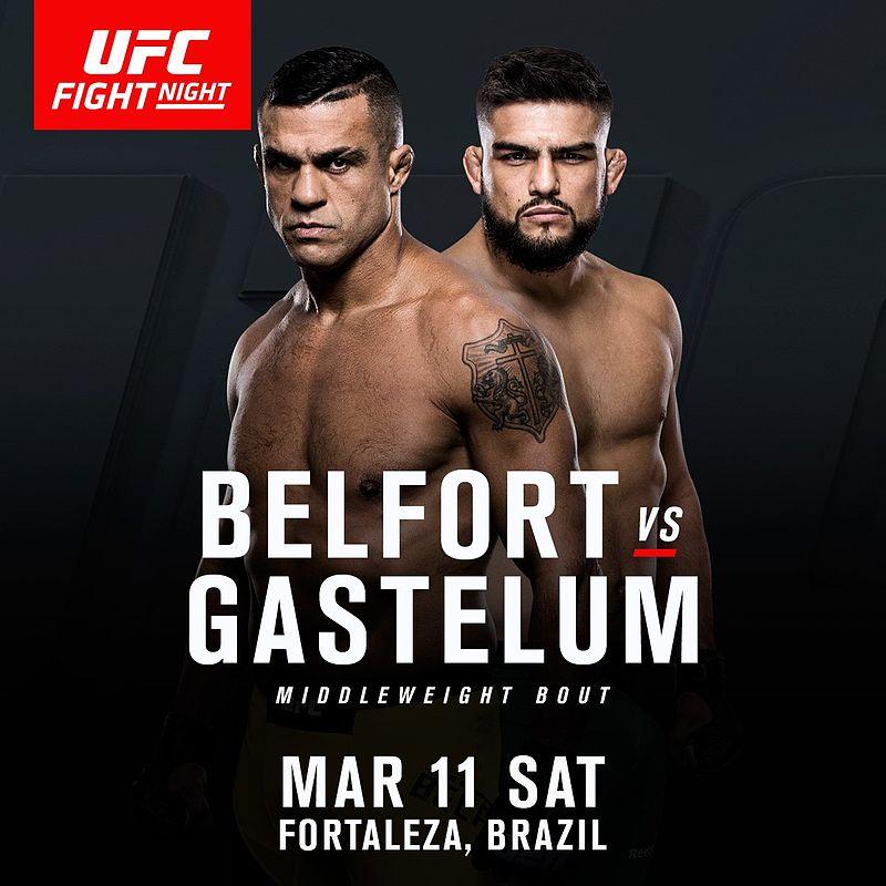Ufc Fight Night Belfort Vs Gastelum Poster