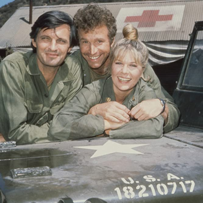 Alan Alda, Wayne Rogers, and Loretta Swit in M*A*S*H (1972)