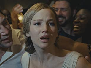 Javier Bardem and Jennifer Lawrence in Mother (2017)