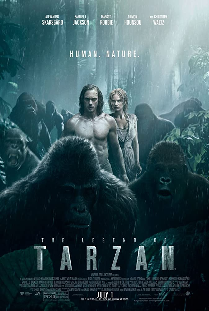 The Legend of Tarzan 2016 Hindi Dual Audio 720p BluRay x264 800MB
