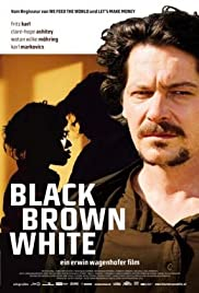 Black Brown White Poster
