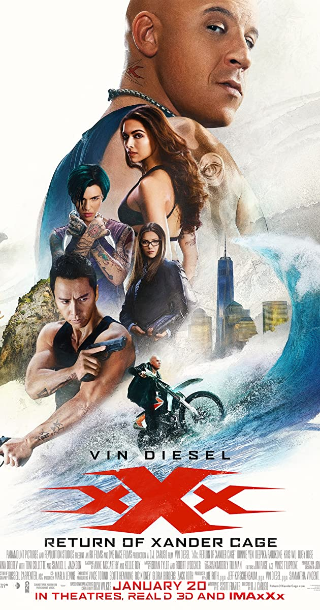 xXx: Return of Xander Cage (2017) 720p HDRip