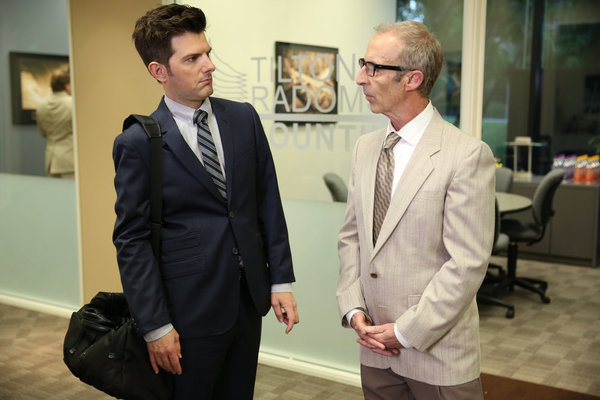 Adam Scott and Bob Bancroft in Parks and Recreation (2009)