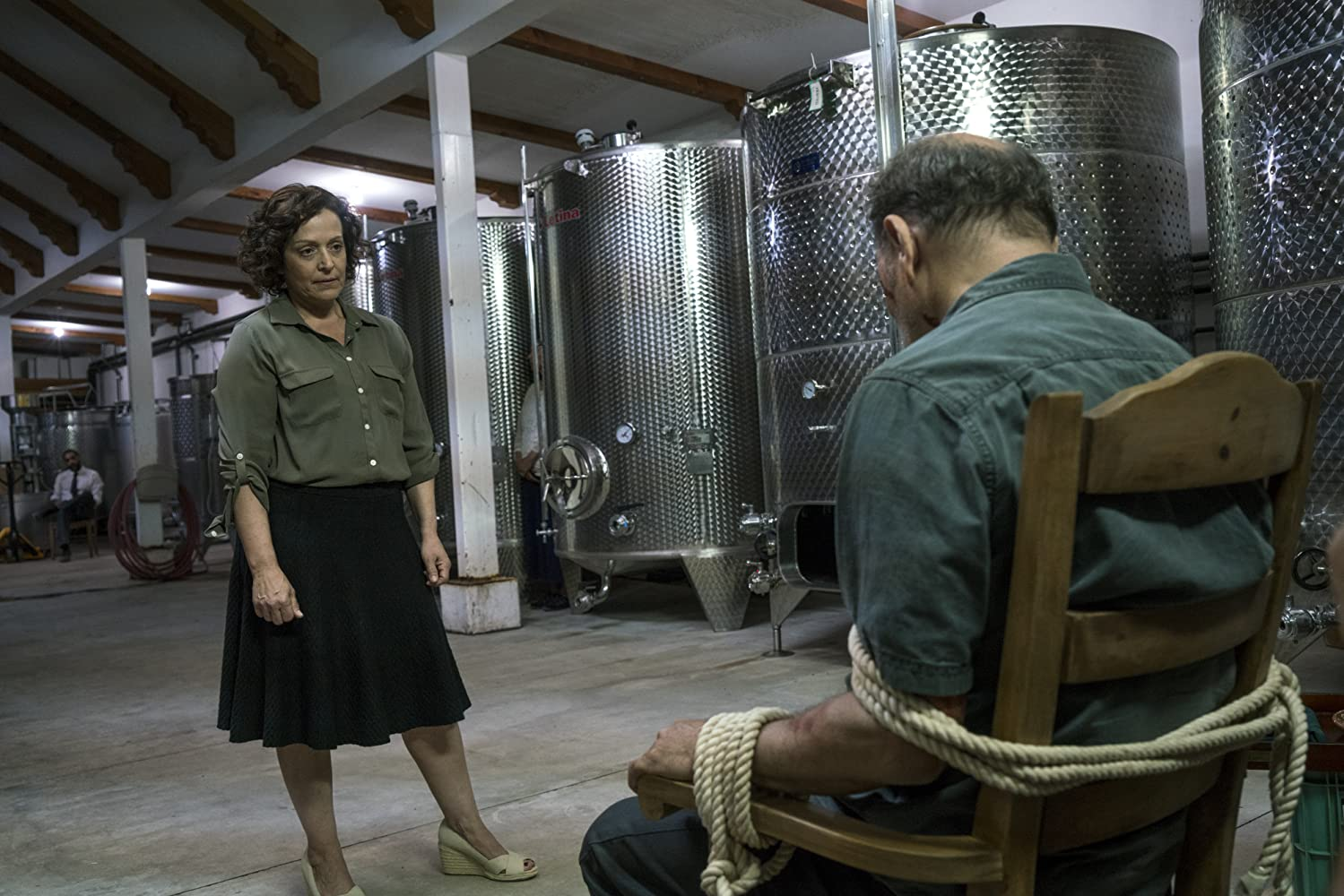 Rubén Blades and Marlene Forte in Fear the Walking Dead (2015)