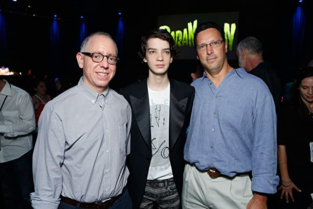 James Schamus, Kodi Smit-McPhee, and Andrew Karpen at ParaNorman (2012)