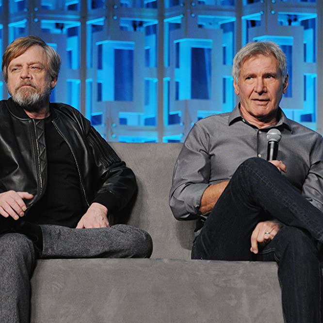 Harrison Ford and Mark Hamill at an event for Star Wars: The Last Jedi (2017)