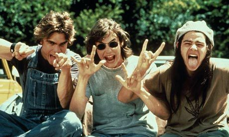 Rory Cochrane, Sasha Jenson, and Jason London in Dazed and Confused (1993)