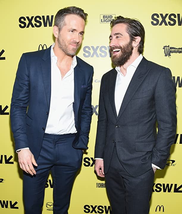 Ryan Reynolds and Jake Gyllenhaal at an event for Life (2017)