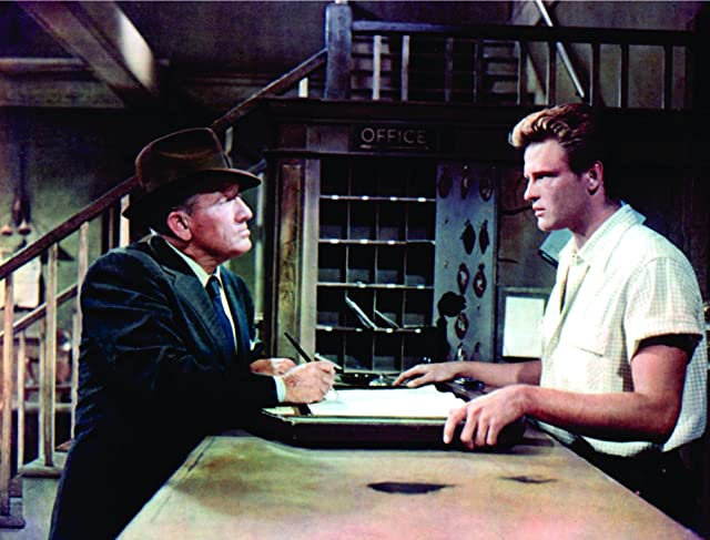 Spencer Tracy and John Ericson in Bad Day at Black Rock (1955)