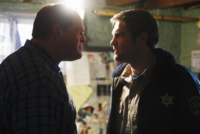 Abraham Benrubi and Geoff Stults in Happy Town (2010)