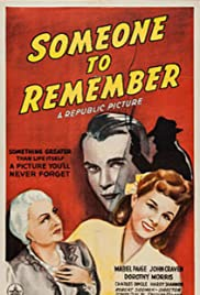 Someone to Remember Poster