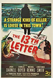 The 13th Letter(1951) Poster - Movie Forum, Cast, Reviews