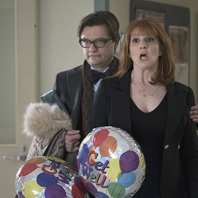James Urbaniak and Julie Klausner in Difficult People (2015)