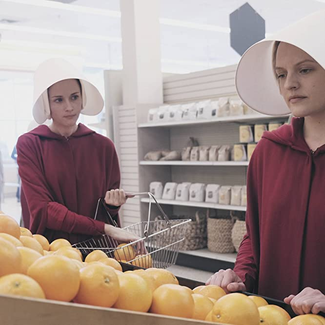 Elisabeth Moss and Alexis Bledel in The Handmaid's Tale (2017)