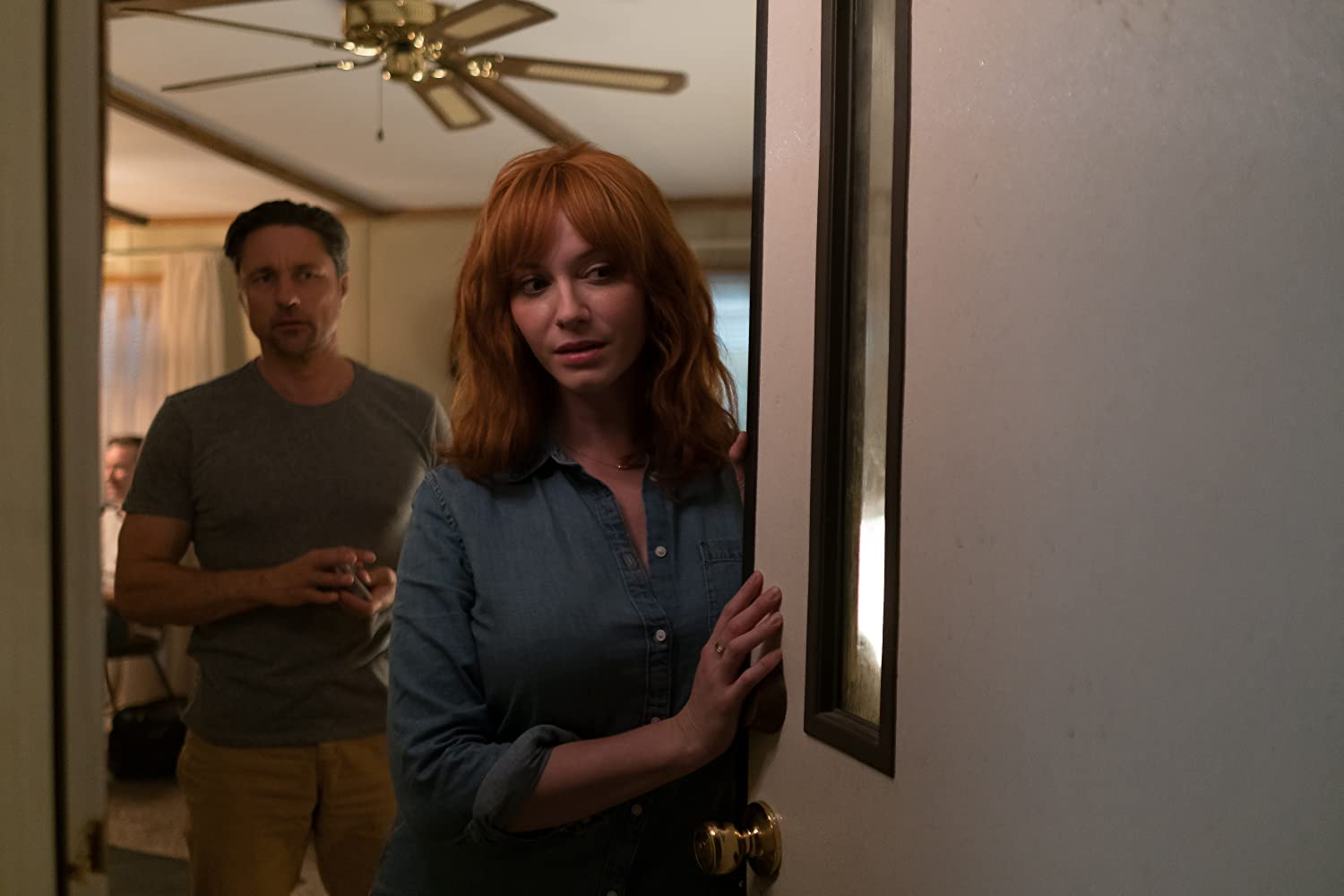 Martin Henderson and Christina Hendricks in The Strangers: Prey at Night (2018)