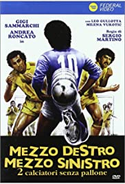 Mezzo destro mezzo sinistro - 2 calciatori senza pallone Poster