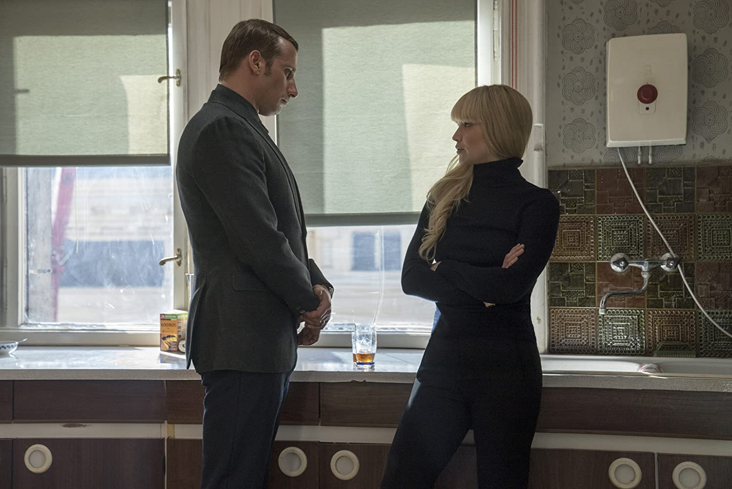 Matthias Schoenaerts and Jennifer Lawrence in Red Sparrow (2018)