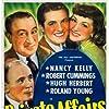 Hugh Herbert, Robert Cummings, Nancy Kelly, and Roland Young in Private Affairs (1940)